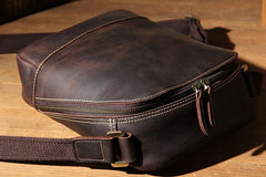 Leather Mens Cool Shoulder Bag Vintage Purse Messenger Bag Crossbody Bag for Men