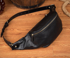 Leather Mens Fanny Pack Waist Bag Hip Pack Belt Bag Bumbag for Men