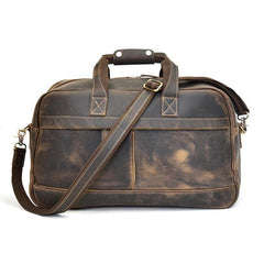 Cool Leather Vintage Mens Weekender Bag Travel Bag Duffle Bag for Men