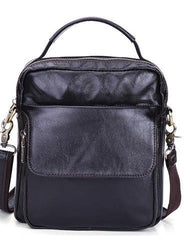 Leather Small Handbag Messenger Bag Shoulder Bag For Men