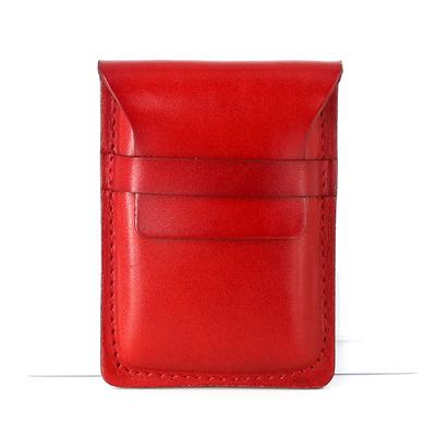 Badass Leather Mens Card Wallet Front Pocket Wallets Small Slim Wallet Change Wallet for Men
