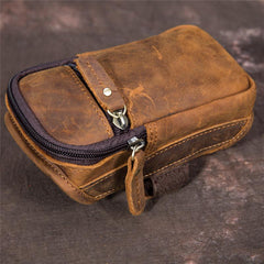 Retro Brown Leather Cell Phone HOLSTER Belt Pouches for Men Waist Bags BELT BAG For Men