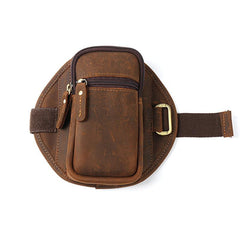 Handmade Leather Mens Running Armband for Cell Phones Sleeve Pouch Arm Case