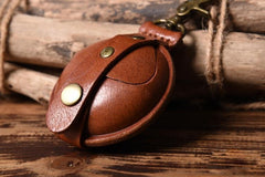Handmade Leather Mens Cool Change Coin Wallet Coin Holder Coin Pouch Case for Men