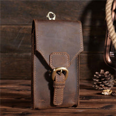 MEN LEATHER Belt Pouch WAIST BAG HIP PACK BELT BAGs CELL PHONE HOLSTER