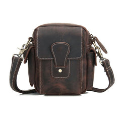 Cool Leather Mens Camera Bag Small Shoulder Bag Crossbody Bag For Men