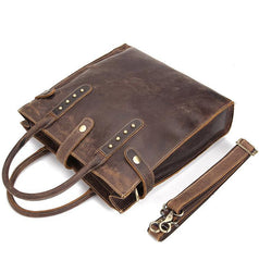 Cool Men Vintage Leather Handbag Tote Shoulder bag CrossBody Bag For Men