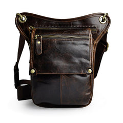 Leather Belt Pouch Mens Cases Waist Bag Hip Pack Belt Bag Fanny Pack Bumbag for Men