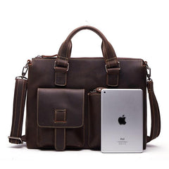 Handmade Leather Mens Cool Messenger Bag Work Bag Satchel Bag Briefcase Bag for men