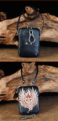 Cool Leather Mens Skull Biker Belt Pouch Waist Bag Side Bag Shoulder Bag for Men