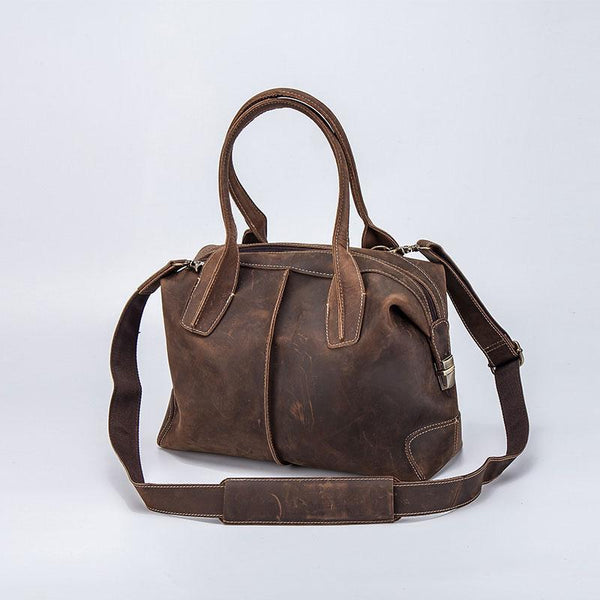 Vintage Leather Handbag for men Travel Bag Shoulder Bag for men