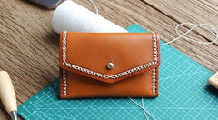 Vintage Leather Mens Card Wallet Change Wallet Coin Wallet Front Pocket Wallet for Men