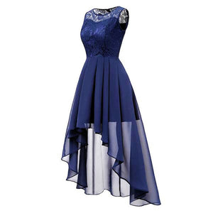 Glam Hi-Lo Sleeveless Formal Dress