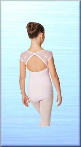 Girls Cap Sleeve Leotard Elaine - DeltaDancewear