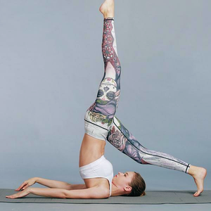 Impeccable Face Art Yoga Leggings