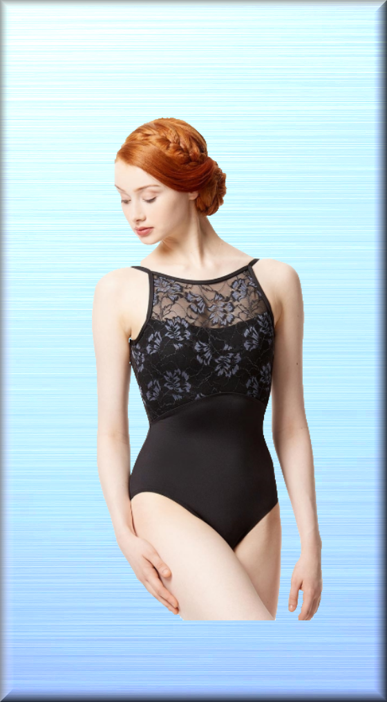 Women Colored Lace Camisole Leotard Dolores. Front lining - DeltaDancewear