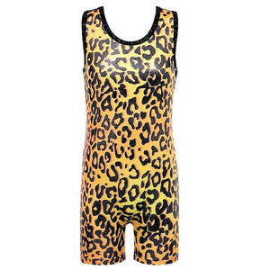 Jungle Princess Animal Printed Kids Ballet Gymnastics Biketard