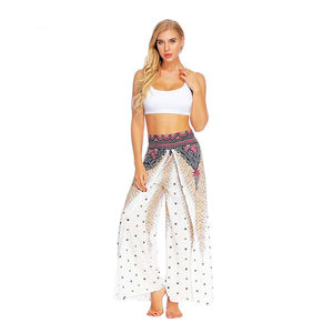 Chasing Gypsy Printed Thai Split Leg Harem Pants