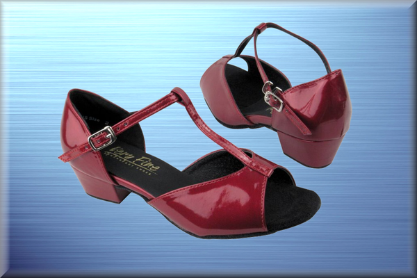 Scarlet Red Patent Dance Shoes - DeltaDancewear