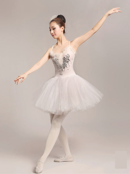 Magical White Swan Ballerina Dress - DeltaDancewear