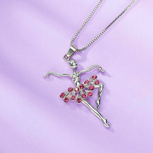 Ballerina Pendant Necklace - DeltaDancewear