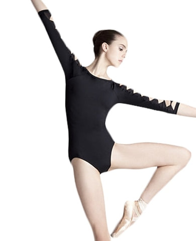 Bow Tie Sleeve Leotard - DeltaDancewear