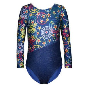 Kids Ballet Tutu Dress Gymnastics Leotards Acrobatics Long Sleeves Leotards Ballet Dance Wear - DeltaDancewear