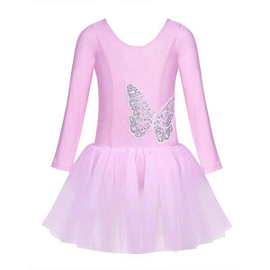 Sequined Butterfly Leotard Dress - DeltaDancewear