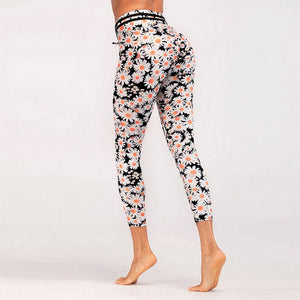 Crazy Daisy Capri Yoga Leggings