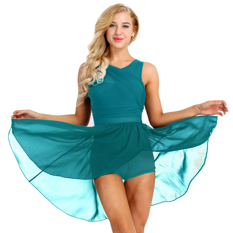 Cross My Heart Chiffon Practice Dress - DeltaDancewear