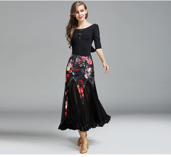 Flower Factor Latin Ballroom Dress - DeltaDancewear