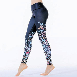 Butterfly Print Leggings - DeltaDancewear