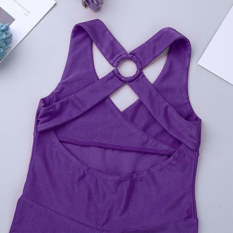 Kiddie Corner's Cross Strap Bodysuit - DeltaDancewear