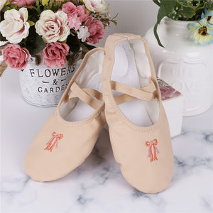 Sweet And Sassy Girl's Ballerina PU Leather Ballet Split Sole Slippers