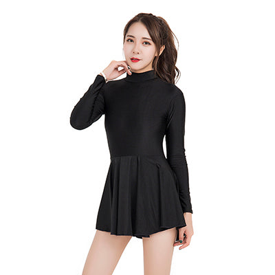 Flair Care Turtleneck Long Sleeved Dance Leotard