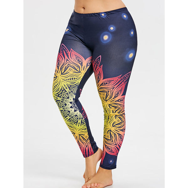 Soothing Mind Dry Fit Yoga Plus Size Pants