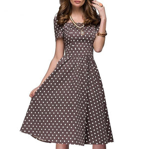 Soft Spot Polka Dot Fit And Flare Dress