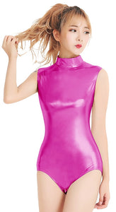 Vogue Vixen High Neck Metallic Dance Leotards
