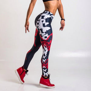 Butterfly Sunset Yoga Fitness Pants