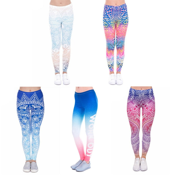 Mesmerized Ombre Slim Fit  Yoga Sports Leggings