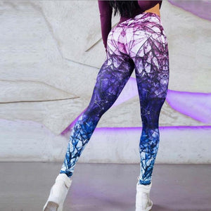 Breaking Glass Quick Dry Yoga Fitness Leggings