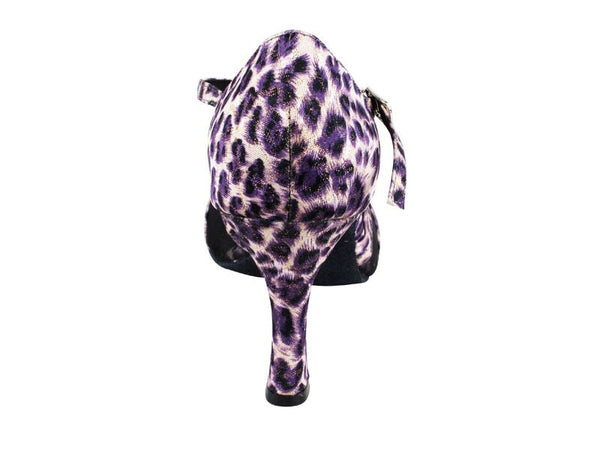 Purple Lover Leopard Dance Shoes - DeltaDancewear