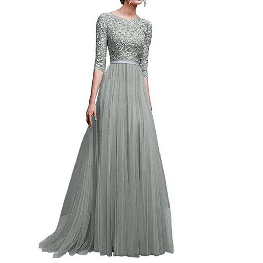 Divine Lace Evening Dress - DeltaDancewear