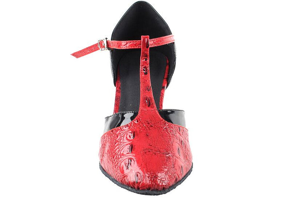 Red Ridin' Croc Dance Shoes - DeltaDancewear