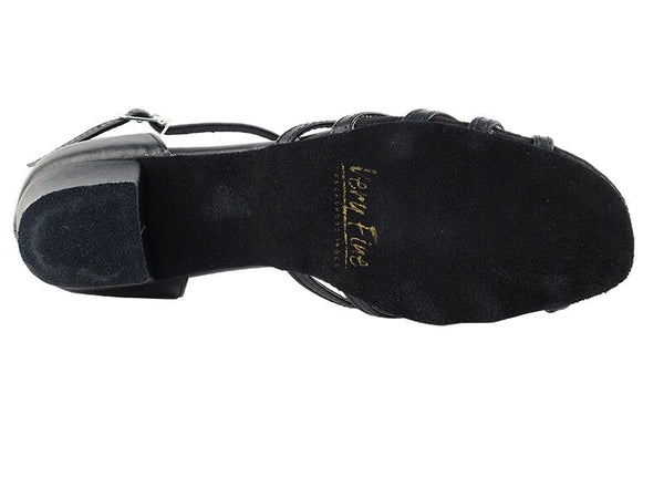Snappy Black Leather Dance Shoes - DeltaDancewear