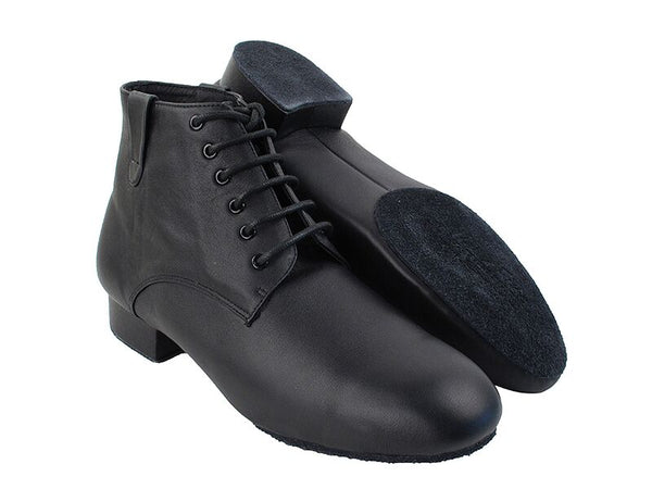 Men's Black Leather Dance Boots - DeltaDancewear