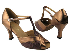 Copper Stardust Dance Shoes - DeltaDancewear