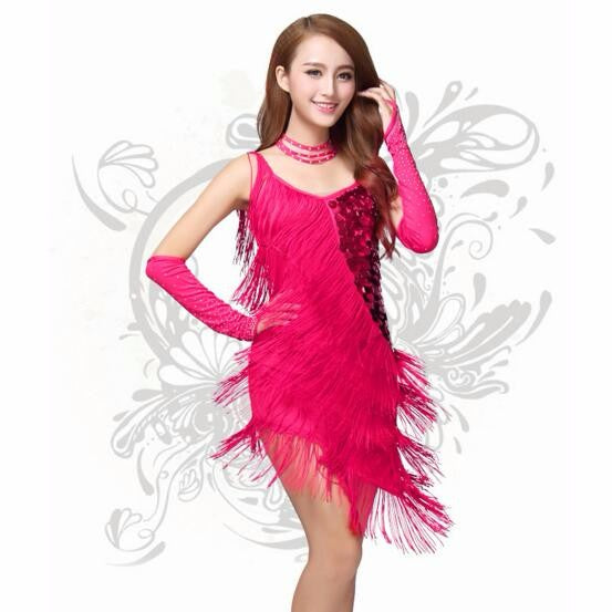 Fringe Benefits Latin Dance Dress - DeltaDancewear