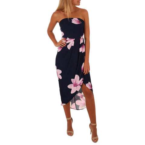 RSVP Strapless Midi Dress - DeltaDancewear