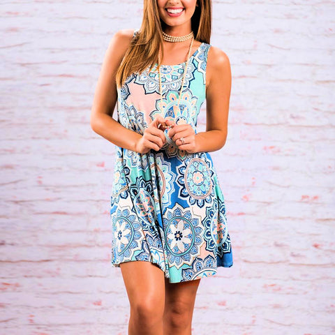 Patiently Paisley Mini Dress - DeltaDancewear